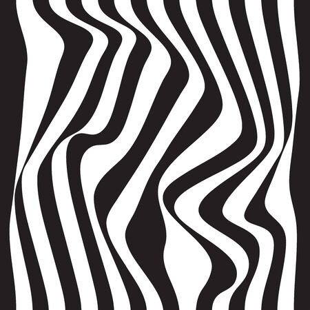 Striped abstract background. black and white zebra print. seamless illustration 写真素材