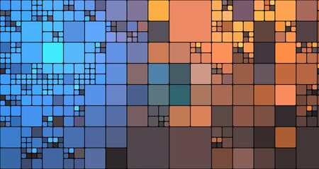 Abstract illustration background full of squares big and smile sizes