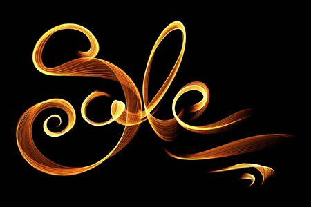 Sale handmade lettering, calligraphy made by fire or smoke, for prints, posters, web.