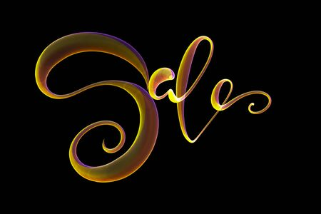Sale handmade lettering, calligraphy made by fire or smoke, for prints, posters, web