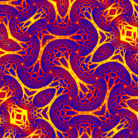 Abstract purple yellow fire fractal pattern. Pattern and embellish your design. The fractal is never stops and always repeats ad infinitum. You can use it as a background for your phone or any design Banque d'images