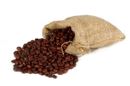 coffee bean in sack photo