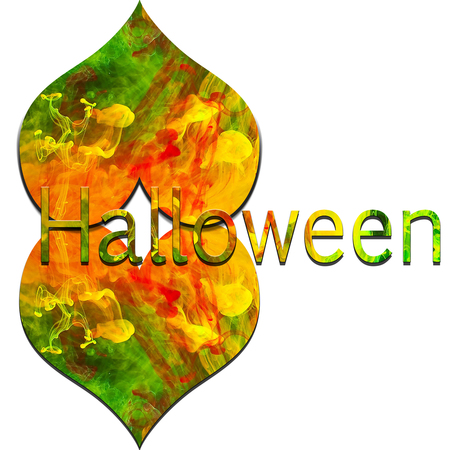 Halloween with colorful text