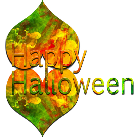 Happy Halloween with colorful text