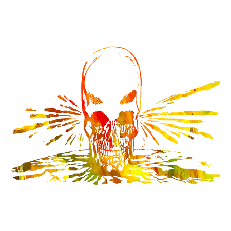 Colorful Horror image of skull Stock Photo