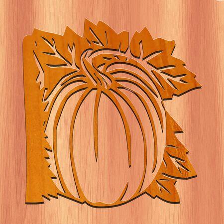 Halloween Pumpkin with wood.