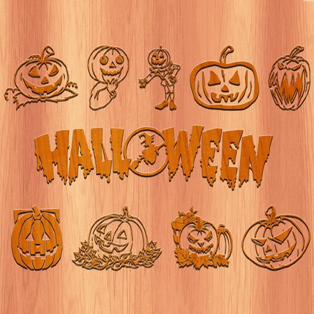 Happy Halloween- made with wood