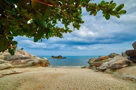 cosy: Sunny and cosy beach Stock Photo