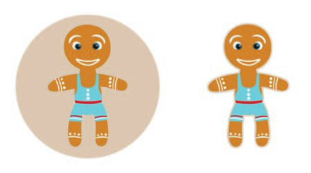rolling pin: Funny sand boy in blue panties ginger cookies on Christmas Day, in Flat style, with a clipping path. Illustration