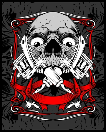 .Shirt designs, biker, disk jockey, gentleman, barber and many others.isolated and easy to edit. Vector Illustration - Vector