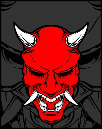 demon hand drawing.vector hand drawing,Shirt designs, biker, disk jockey, gentleman, barber and many others.isolated and easy to edit. Vector Illustration - Vector