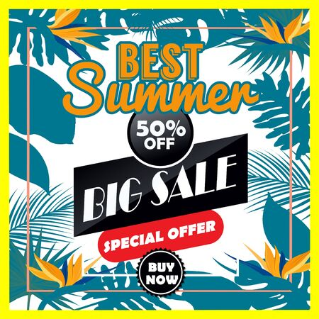Vector Summer Big sale is a lettering inscription hand drawing vector