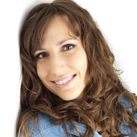 Portait of happy smiling woman close-up Stock Photo - 17334676
