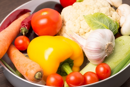 Fresh Colorful Vegetables in a pot