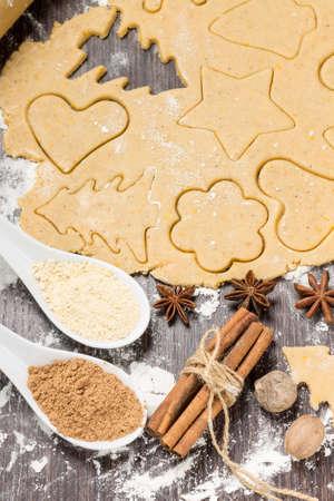 Preparing gingerbread cookies with ingredients Stock Photo - 24361498