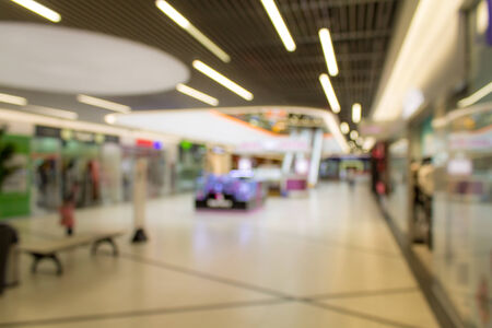 Abstract Blurred image of supermarket or lobby of shopping center photo