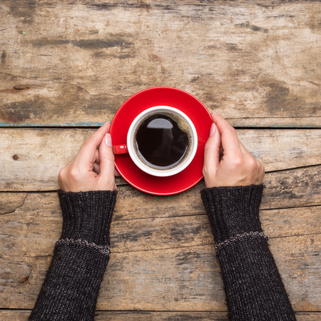 Coffee break background. Stop working drink espresso Foto de archivo