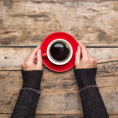 Kaffeepause Hintergrund. Stoppen Sie trinken Espresso Arbeits Standard-Bild
