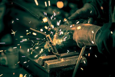 鋼溶接職人 写真素材