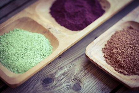 dietary: Healthy  dietary supplement powders (Superfood)