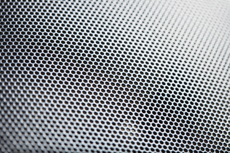grid pattern: Metal speaker mesh Stock Photo