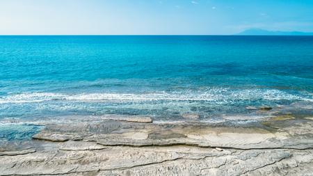 Beautiful rocky beach on thassos island