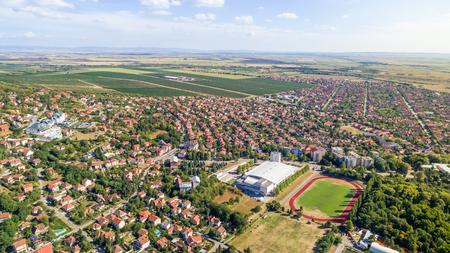 Vrsac city landscape in Serbia, Vojvodina