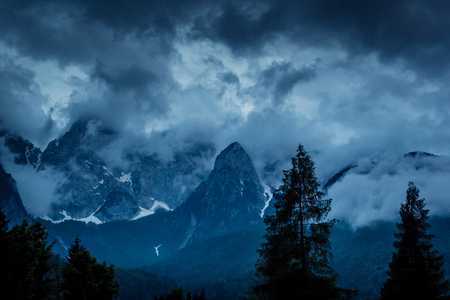 Storm through the Julian Alps