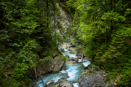 Martuljek river in Slovenia, Julian alps