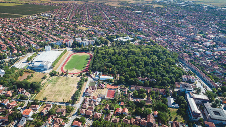 Vrsac city landscape in Serbia, Vojvodina Reklamní fotografie - 103243066