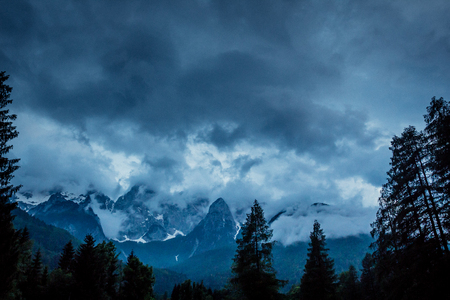 Storm through the Julian Alps Reklamní fotografie - 103243075