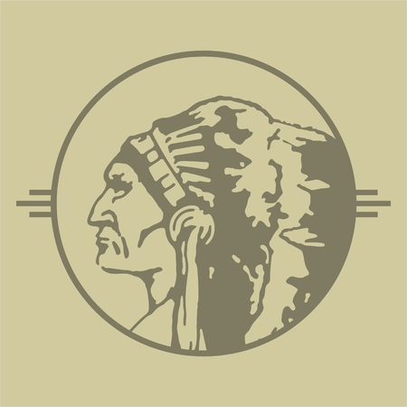 chieftain: Native American Chieftain Stamp