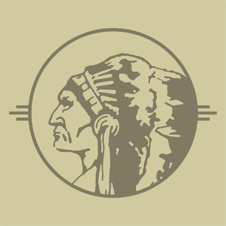 rite: Native American Chieftain Stamp