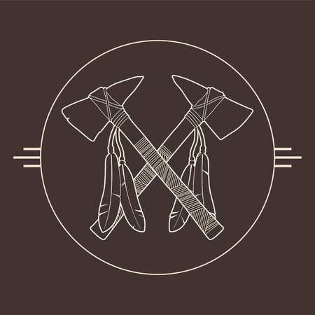 sioux: Native American Tomahawks Illustration