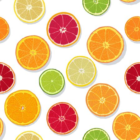 slices: Citrus Slices Seamless Pattern Illustration