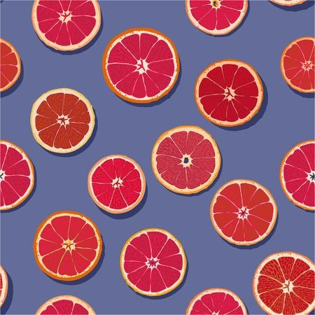Blood Orange Slices Seamless Pattern