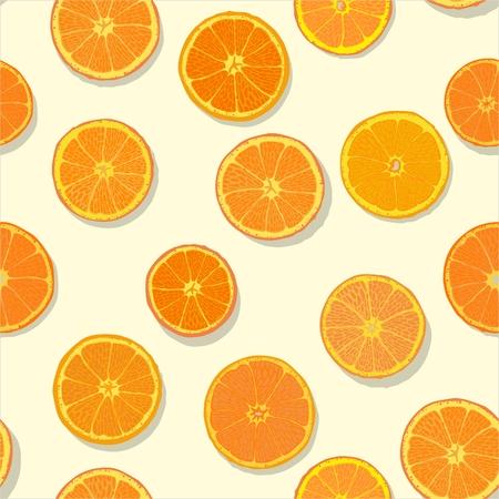 orange slices: Orange Slices Seamless Pattern