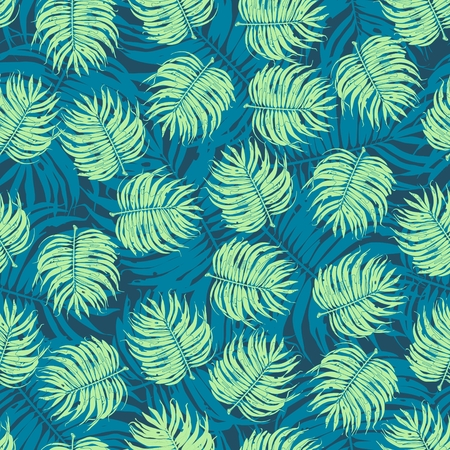tropical flower: Tropic Floral Seamless Pattern Background