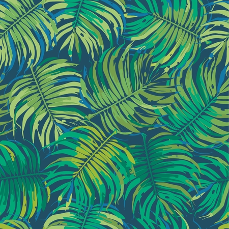 tropical leaves: Tropic Floral Seamless Pattern Background