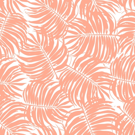 green plants: Tropic Floral Seamless Pattern Background