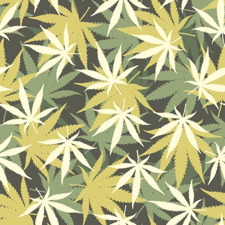 Marijuana Camouflage Vector Pattern Illustration