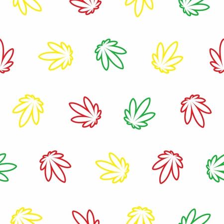 Fancy Ganja Leaves Pattern
