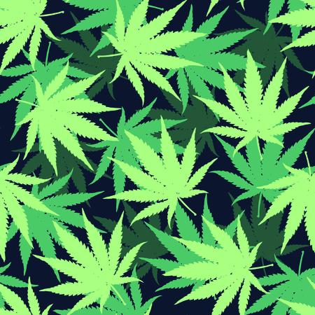 Marijuana Seamless Vector Camouflage Pattern