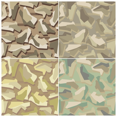 Camouflage Seamless Vector Patterns