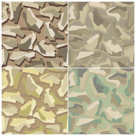 Camouflage Seamless Vector Patterns Banco de Imagens - 124300083