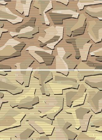 Desert Camouflage Pattern Seamless Vector Illustration