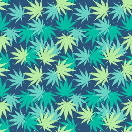hashish: Ganja Weed Marijuana Seamless Vector Pattern Background