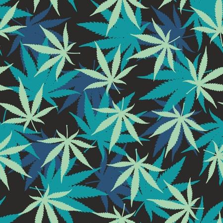 weed: Ganja Weed Marijuana Seamless Vector Pattern Background