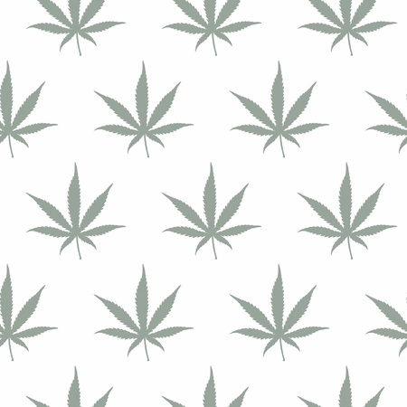 ganja: Ganja Weed Marijuana Seamless Vector Pattern Background