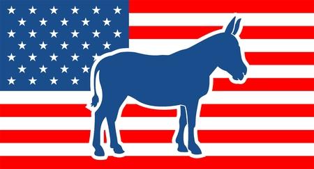 American Democrat and Republican Parties Illustration